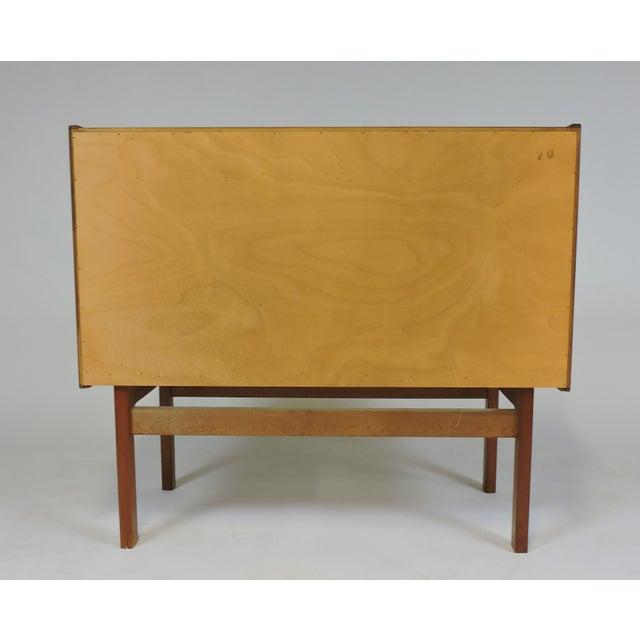 Arne Wahl Iversen Danish Modern Teak Secretary Desk Model 70 For Sale - Image 9 of 12