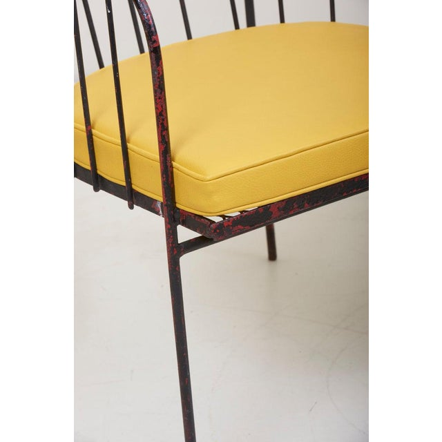 Metal Set of Four Iron Rod Outdoor Chairs by George Nelson for Arbuck, 1950s For Sale - Image 7 of 13