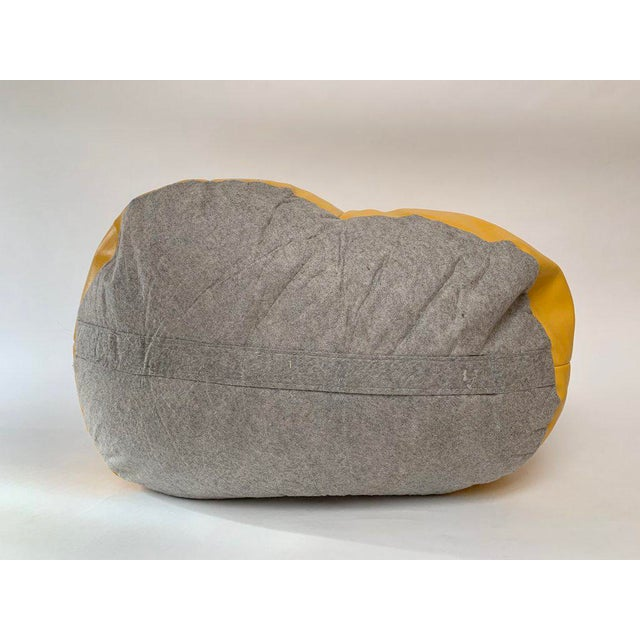 1970s White and Yellow De Sede Sneaker Bean Bag Chair or Ottoman For Sale In New York - Image 6 of 12