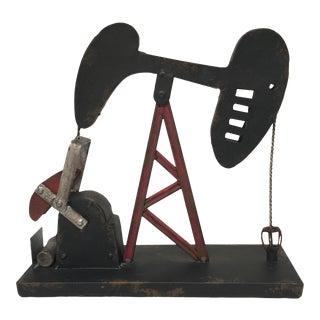 Vintage Style Oil Well Pump Sculpture