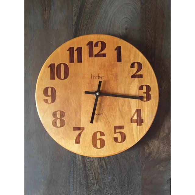 Vintage Mid-Century Modern Linden Wall Clock - Image 2 of 6