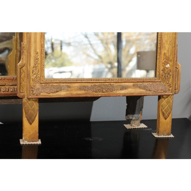 Mid 19th Century French Louis XV Style Giltwood Mirror with Hand Carved Liberal Arts Symbols For Sale - Image 5 of 10