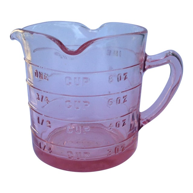 Vintage Pink Depression Glass Measuring Cup - Image 1 of 3