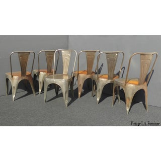 Vintage Rustic Industrial Style Metal Dining Chairs - Set of 6 Preview