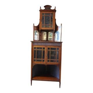 Edwardian Mahogany Corner Cabinet C.1910 For Sale