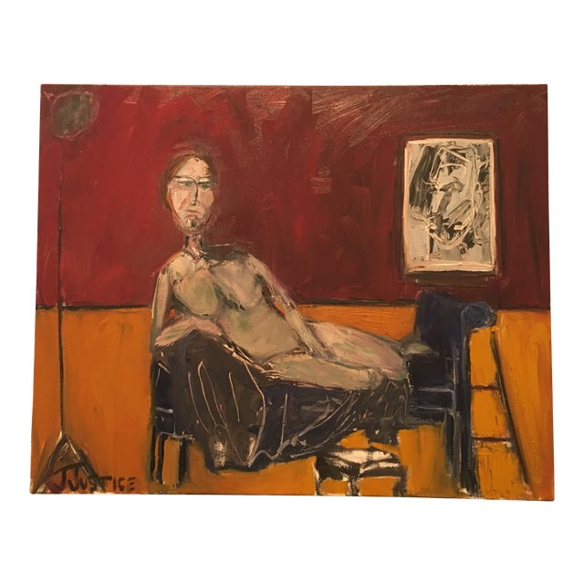 """JJ Justice """"Everyone Stares at Her"""" Oil Painting For Sale"""