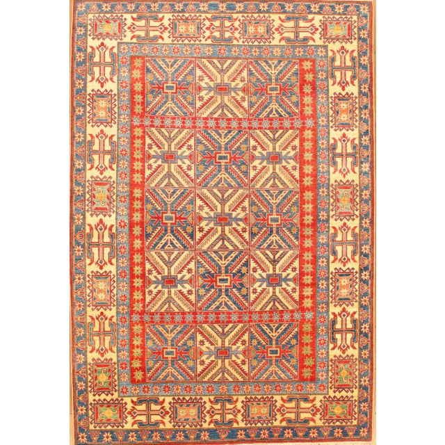 """Islamic Pasargad N Y Hand-Knotted Kazak Rug - 7'2"""" X 10'7"""" For Sale - Image 3 of 3"""