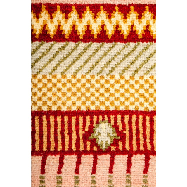 """Striped Hand Knotted Area Rug - 5'1"""" X 7'6"""" - Image 3 of 3"""