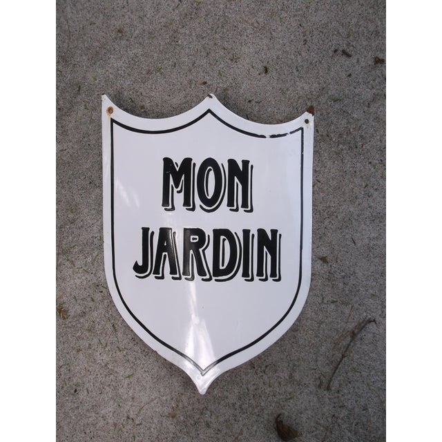 "Vintage French ""Mon Jardin"" Garden Sign - Image 5 of 5"