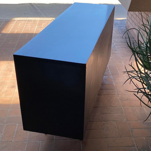 Wood Paul McCobb Planner Group Credenza With Original Ebonized Wood Finish, 1950s For Sale - Image 7 of 12