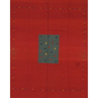 """Pasargad Ny Sumak Weave Gabbeh Rug - 8' X 10'1"""" For Sale"""