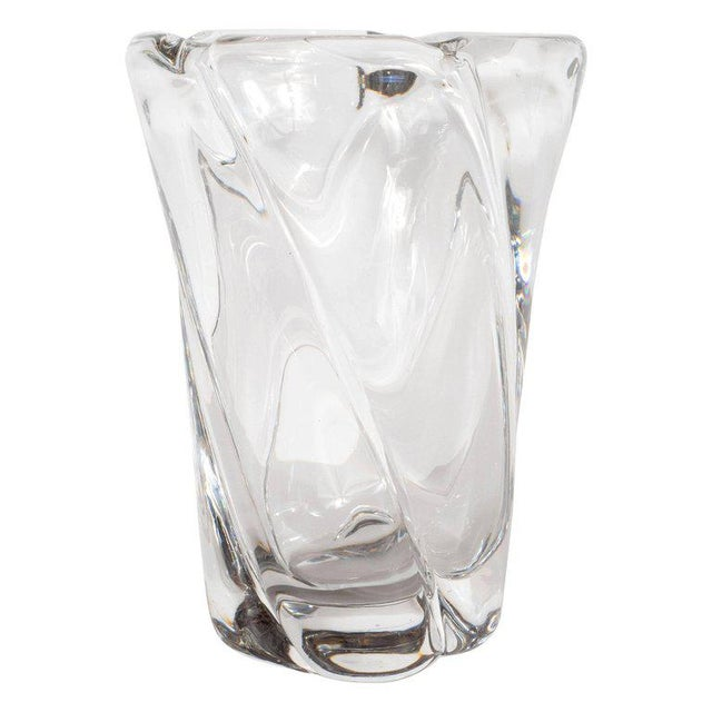 1960s French Mid-Century Modern Translucent Glass Vase by Daum For Sale - Image 5 of 5