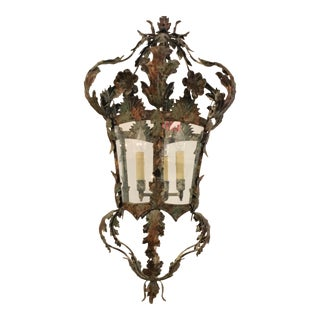 Traditional Italian Tole Style Lantern/Chandelier For Sale
