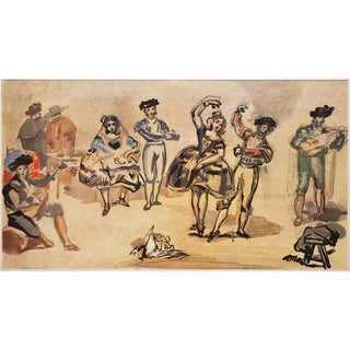 1959 Manet, Spanish Dancers Lithograph From Budapest For Sale