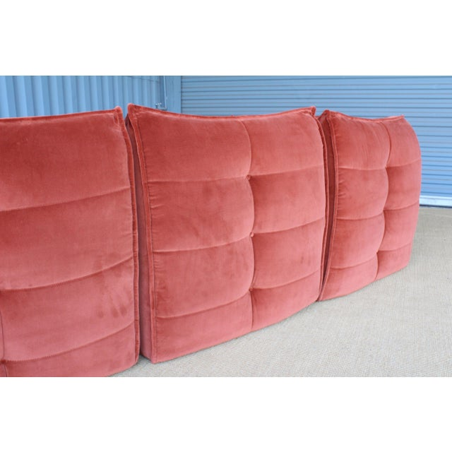 Four-Piece Sectional Sofa, Italy, 1960s For Sale - Image 9 of 12