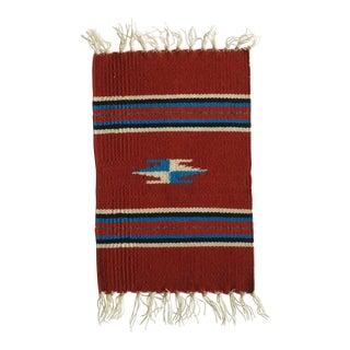 Vintage Chimayo Weaving Small Mat