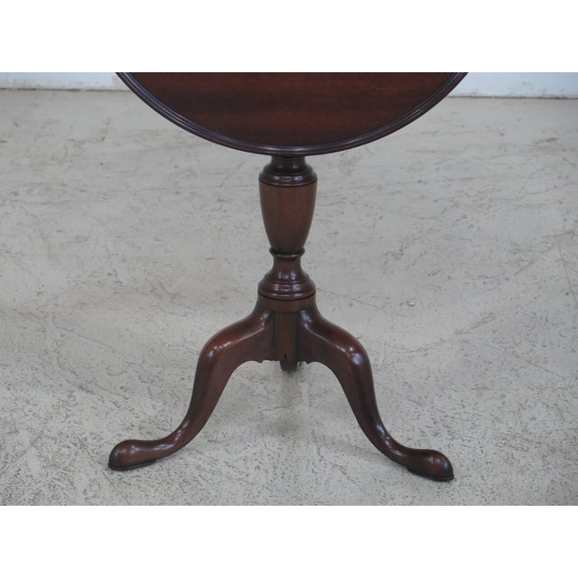 Kittinger Colonial Williamsburg Model CW-11 Mahogany Tilt Top Table - Image 2 of 11