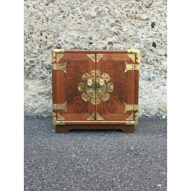 Vintage Chinoiserie Wood & Brass Jewelry Box - Image 2 of 6