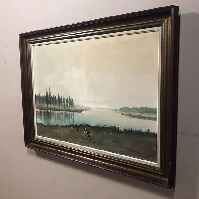 1900s Antique Framed Oil Painting on Canvas by Pauwels For Sale - Image 5 of 12