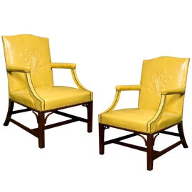 Image of Yellow Bergere Chairs