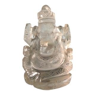 Vintage Crystal Ganesh Sculpture