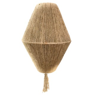 Jute Cord Wrapped Pendant For Sale