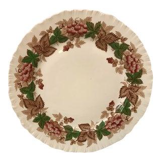 Vintage Wedgwood Floral Pattern Plate For Sale