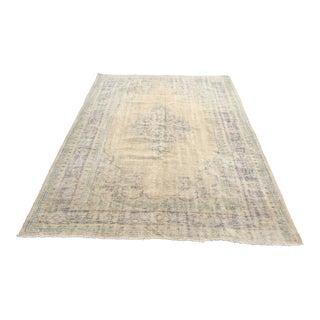 "Handmade Oushak Turkish Carpet - 6'3"" x 8'11"""