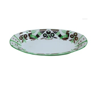 German Art Deco Oblong Porcelain Bowl For Sale