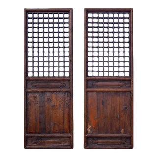 Chinese Mirrored Doors - a Pair