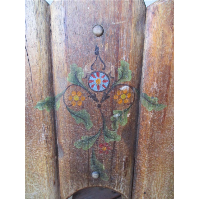 1940s Antique Farmhouse Wood End Table Monterey Rustic Style For Sale - Image 10 of 10
