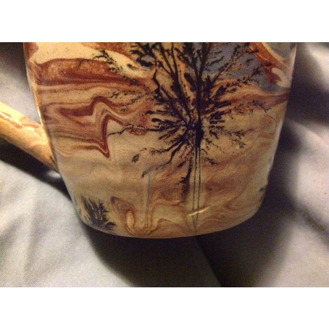 Sevierville Pottery Tennessee Art Pottery Creamer Tree & Sky Motif For Sale - Image 4 of 7
