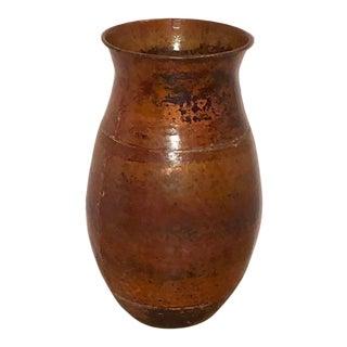 Vintage Copper Hand Hammered Pot For Sale