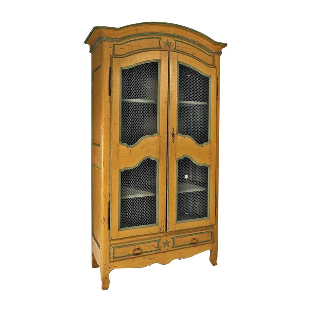 19th Century Italian Painted Armoire Bookcase For Sale