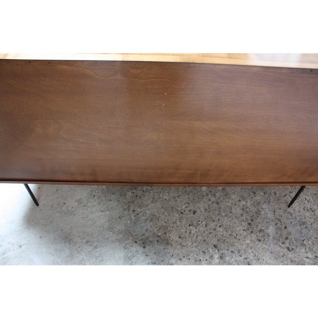 Milo Baughman for Murray Eight-Drawer Chest in Maple and Iron For Sale - Image 11 of 13