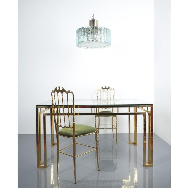 Romeo Rega Breakfast or Dining Table Brass Glass, Italy 1960 For Sale - Image 10 of 12
