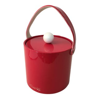 1960s Cherry Red Dorothy Thorpe Ice Bucket For Sale
