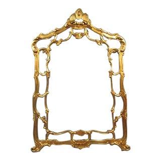 19th C. Hollywood Regency Gilt Mirror Frame For Sale