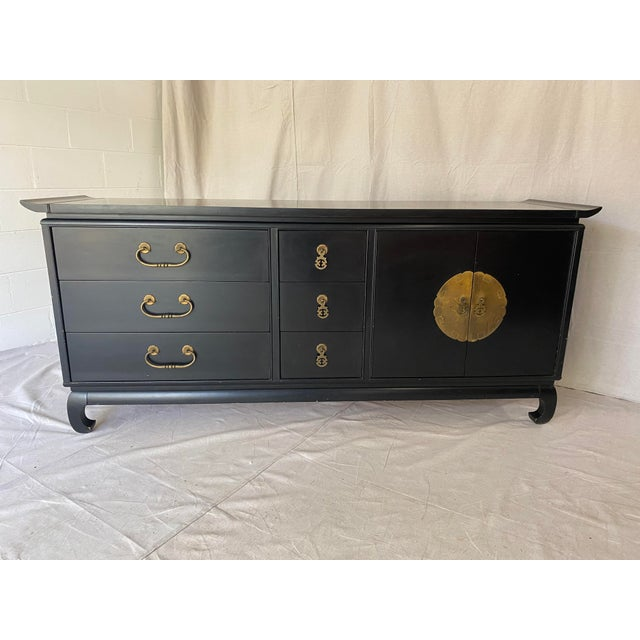Asian Mid Century Kent Coffey Chinoiserie Pagoda Credenza For Sale - Image 3 of 13