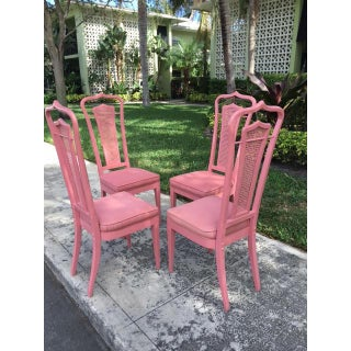Vintage Palm Beach Pink Dining Chairs- Set of 4 Preview