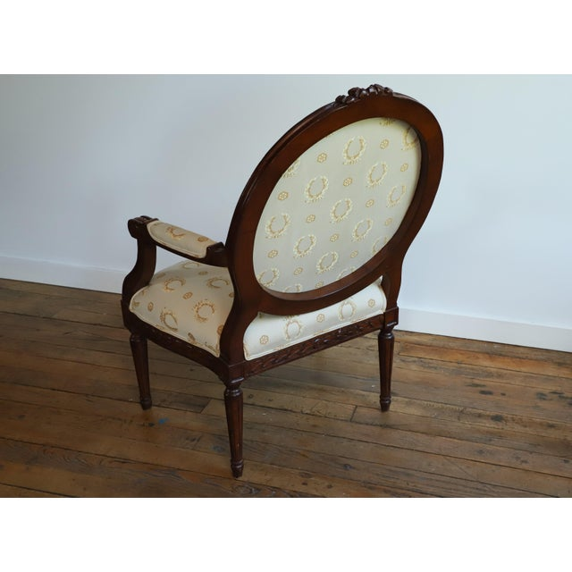 Mid 20th Century Louis XVI Fauteuil For Sale - Image 4 of 9