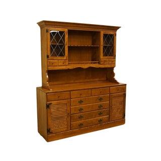 "Ethan Allen Heirloom Nutmeg Maple 60"" Buffet W/ Hutch For Sale"