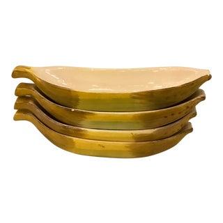 Banana Split Dishes, S/4 For Sale