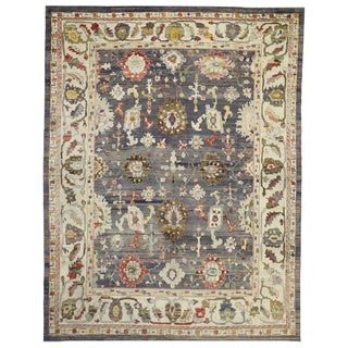 Contemporary Turkish Oushak Rug - 12′1″ × 15′8″ For Sale