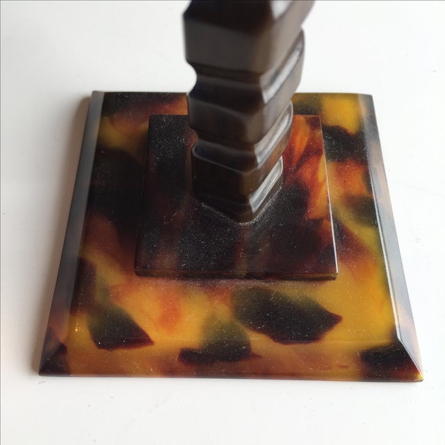 Tortoise Shell Candlesticks- a Pair - Image 5 of 6