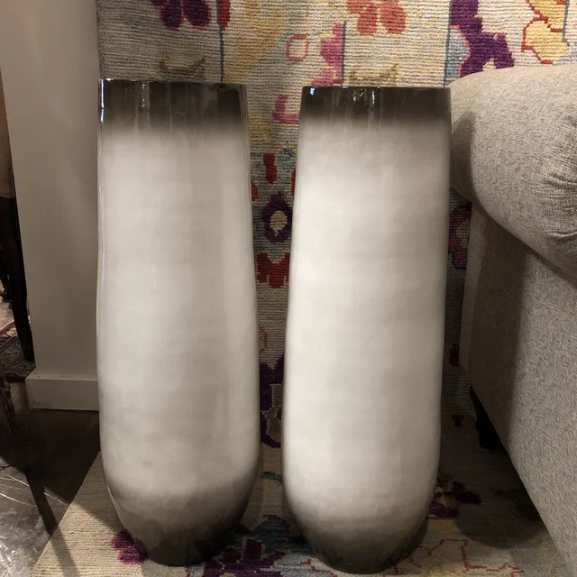 Ceramic 1990s Contemporary Beige Vases - a Pair For Sale - Image 7 of 7