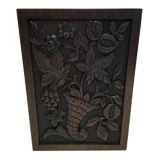 19th Century Hand-Carved Black Forest Panel For Sale