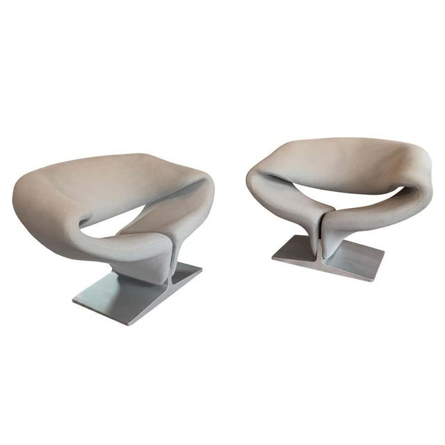 "Pierre Paulin for Artifort ""Ribbon"" Lounge Chairs For Sale - Image 11 of 11"