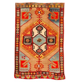 Antique Early 20th Century Turkish Karapinar Rug For Sale