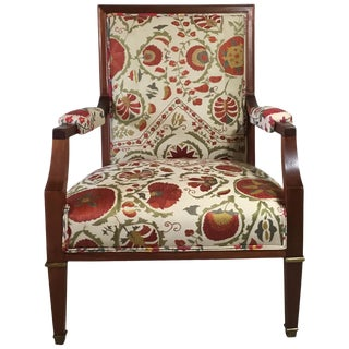 French Vintage Suzani Armchair For Sale